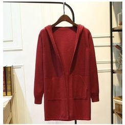 wisperia - Hooded Long Cardigan
