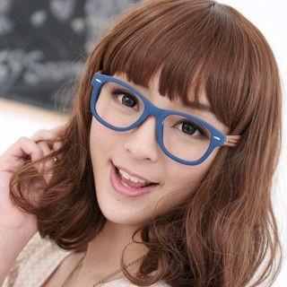 59 Seconds - Bamboo Texture Temple Glasses (Non-Prescription Lens Included)