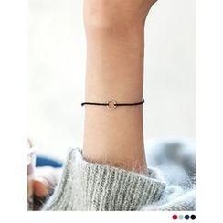 PINKROCKET - Circle-Accent Woven Bracelet