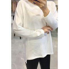 OZNARA - Round-Neck Raglan-Sleeve T-Shirt