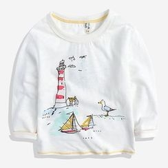 Happy Go Lucky - Kids Print Sweatshirt