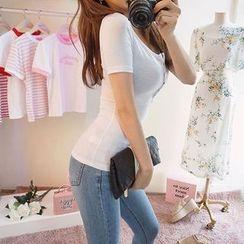 chuu - Washed Skinny Jeans