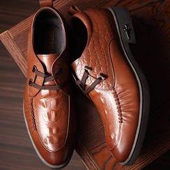 SHEN GAO - 鳄鱼纹系带牛津鞋