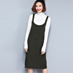Clover Dream - Knit Pinafore Dress