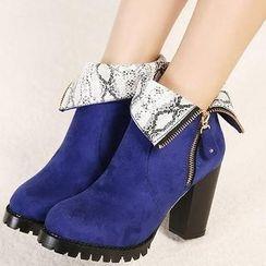 Mancienne - Heel Short Boots