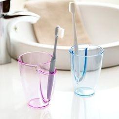 Home Simply - 塑膠透明牙刷杯