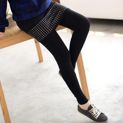59 Seconds - Inset Studded Skirt Leggings