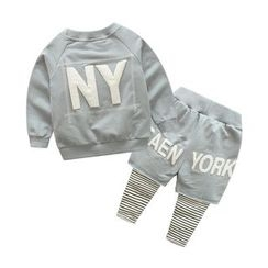 Seashells Kids - Kids Set : Number Sweatshirt + Inset Leggings
