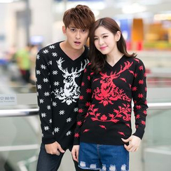 Lovebirds - Couple Printed Sweater