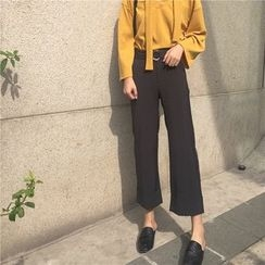 Lemon Bliss - Plain Cropped Pants