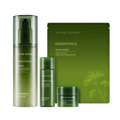 Nature Republic - Greentinol Essence Special Set: Essence 40ml + Toner 31ml + Cream 6ml + Mask 1pc