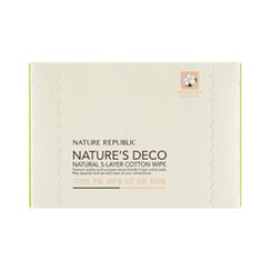 Nature Republic - Nature's Deco Natural 5-Layer Cotton Wipe 80pcs