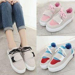 Limone - Colour Block Velcro Sneakers