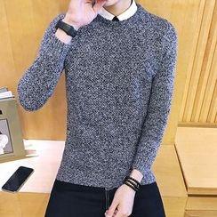 Alvicio - Melange Knit Sweater