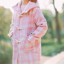 Moricode - Plaid Toggle Coat
