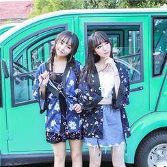 GOGO Girl - Floral Print Kimono Jacket