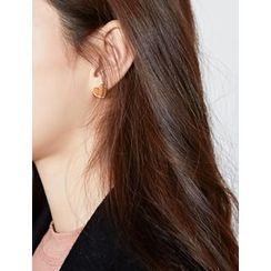 FROMBEGINNING - Heart Stud Earrings