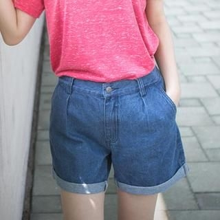 LULUS - Cuffed Denim Shorts