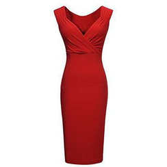 Eloqueen - V-Neck Bodycon Dress