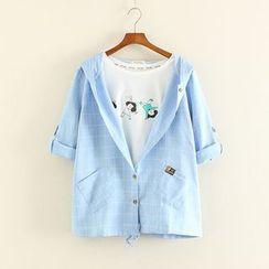Mushi - Check Hooded Jacket