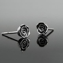 Sterlingworth - Rose Sterling Silver Single Earring