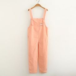 ninna nanna - Peach Embroidered Jumper Pants
