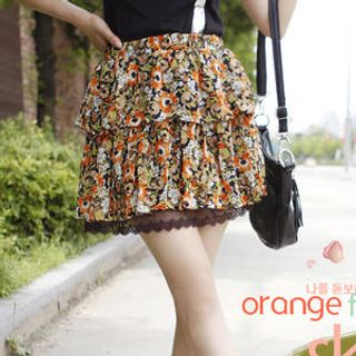Layered Floral Skirt
