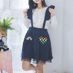Moricode - 荷葉邊背帶裙