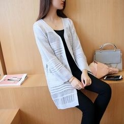 Raison d'etre - Open-Knit Long Cardigan