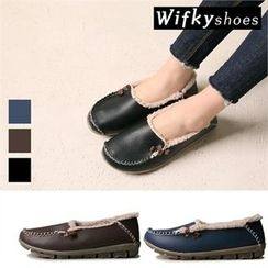 Wifky - Faux-Fur Lined Genuine-Leather Loafers