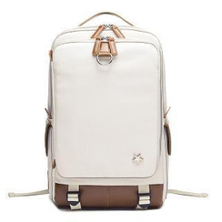 MBaoBao - Contrast-Trim Canvas Backpack