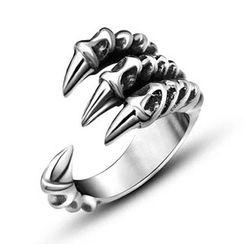 Andante - Titanium Steel Claw Ring