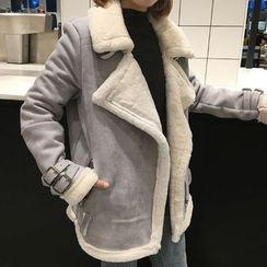Karnel - 仿羊皮摩托外套
