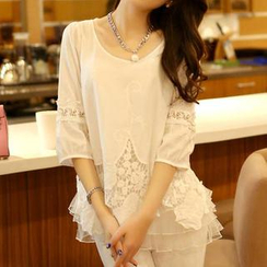 JVL - 七分袖蕾絲衫