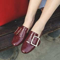 Parkwalker - Buckle Patent Loafers