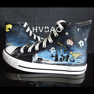 HVBAO - 'Halloween Night' High-Top Canvas Sneakers