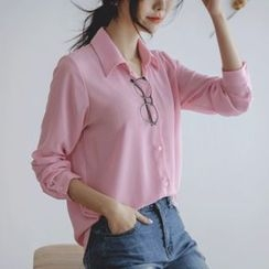 JUSTONE - Colored Chiffon Shirt