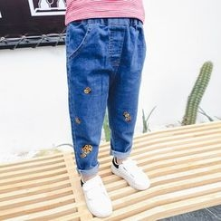 Matatabi - Embroidery Tapered Jeans