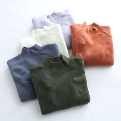 Piko - Plain Mock Neck Sweater