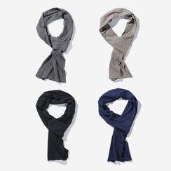 Mrlin - 純色棉質圍巾