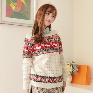 JK2 - Nordic-Pattern Wool-Blend Sweater
