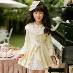糖果雨 - 小童长款针织开衫