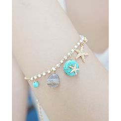 Miss21 Korea - Gemstone Charm Bracelet