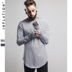 Newin - 條紋長袖T恤