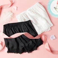 LA SHOP - Lace Trim Under Shorts