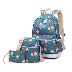 VIVA - Set of 3: Elf Print Backpack + Crossbody Bag + Pouch