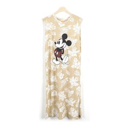 BBORAM - Sleeveless Mickey Mouse Print T-Shirt Dress