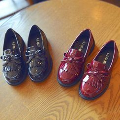BOOM Kids - Kids Fringed Faux Patent Leather Loafers
