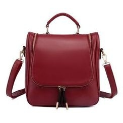 Venus Bags - Convertible Faux Leather Backpack