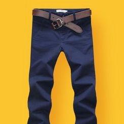 DUKESEDAN - 修身斜纹裤